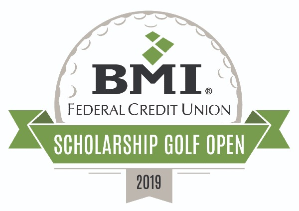 golf open logo bmi logo on a golf ball with ribbon