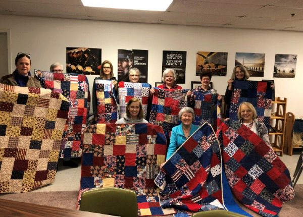ladies of marine support network and their quilts